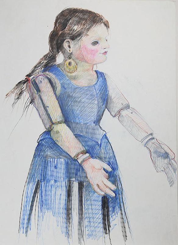 Solana ́s wooden doll
